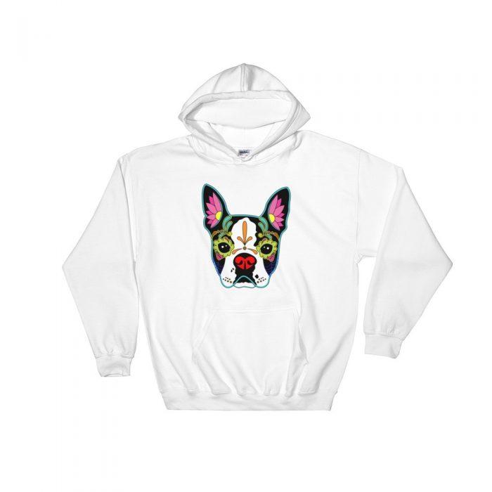 Flower Bulldog Hooded Sweatshirt