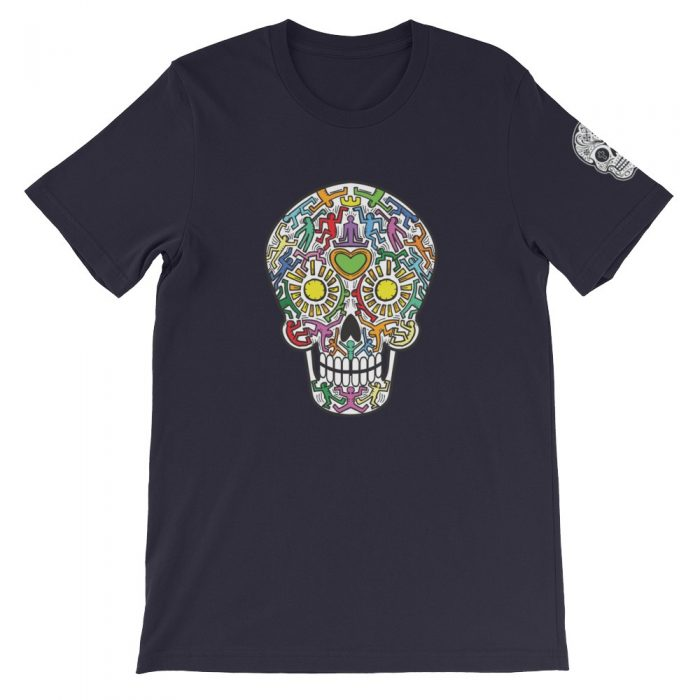 Skull with Silhouettes Short-Sleeve Unisex T-Shirt