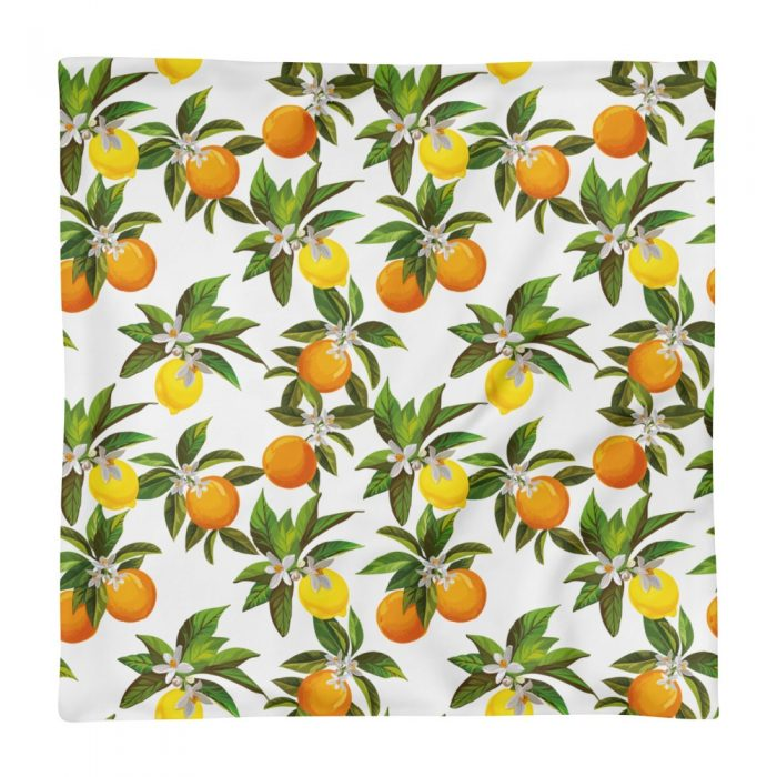 Lemon & Orange Pattern Pillow Case only