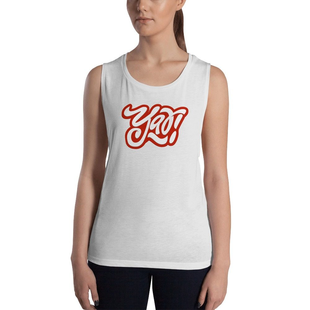 Yay Red Ladies' Muscle Tank