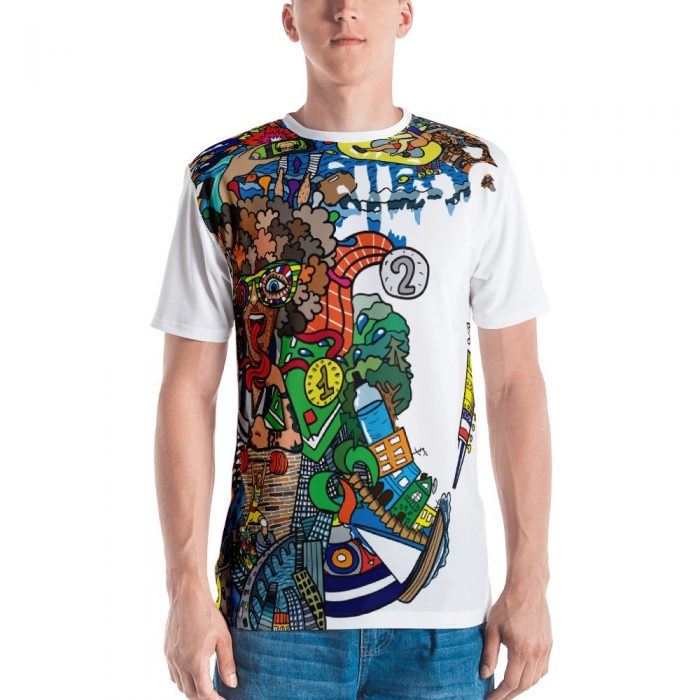 Abstract Cartoon Pattern Men's T-shirt