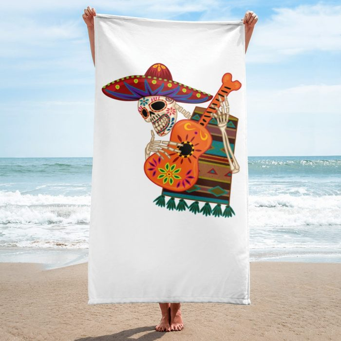 Skeleton with a Guitar Towel