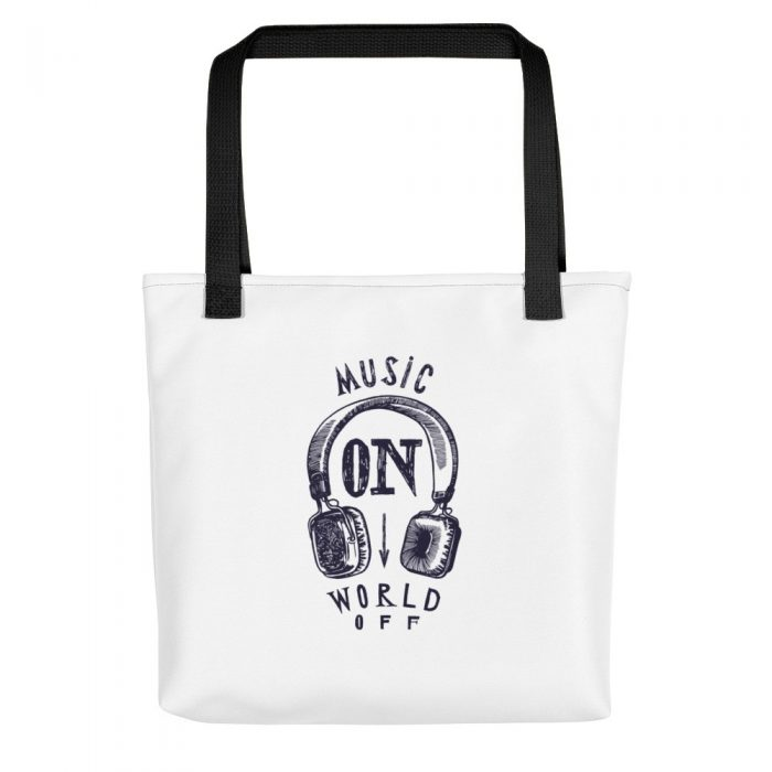 Music On World Off Tote bag
