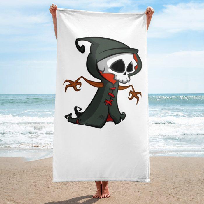 Cartoon Skeleton Monk Towel