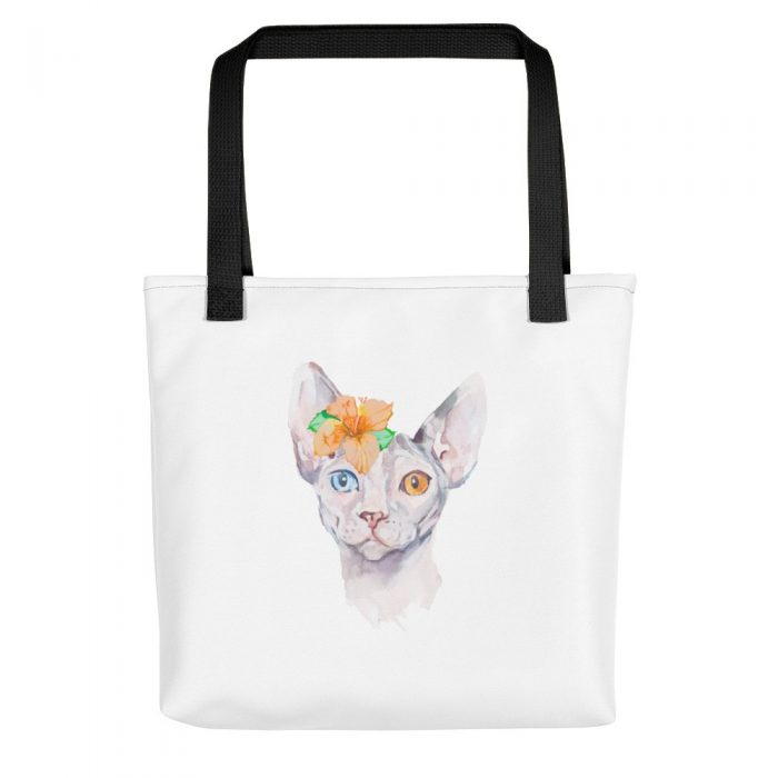 Sphynx Cat Watercolor Tote bag