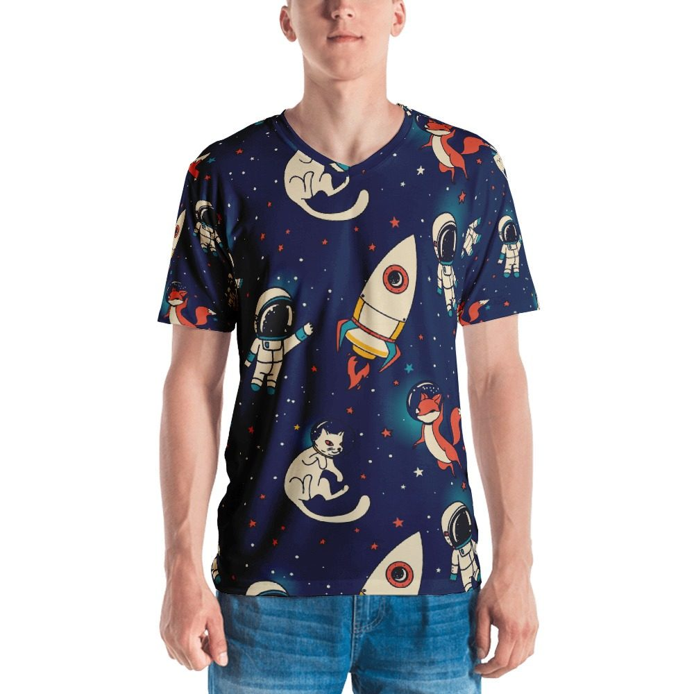 Space Fox & Cat Men's T-shirt