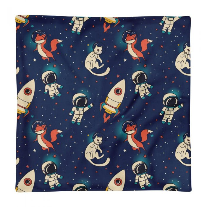 Space Fox & Cat Premium Pillow Case only