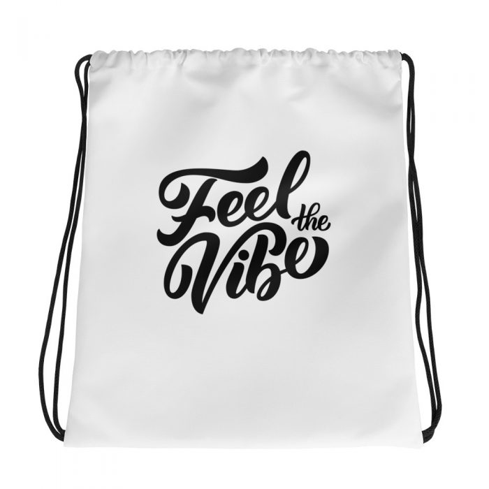 Feel the Vibe Drawstring bag