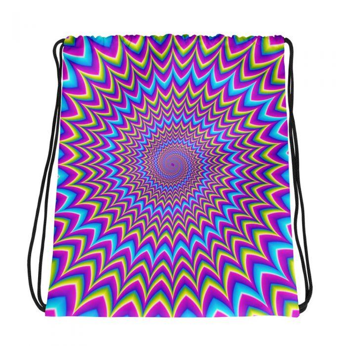 Optical Illusion Drawstring bag