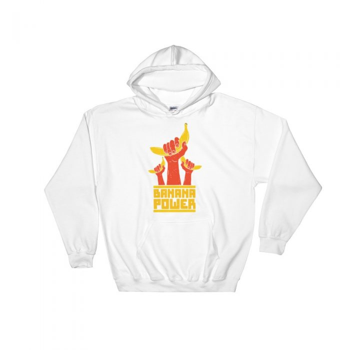 Banana Pattern Hooded Sweatshirt