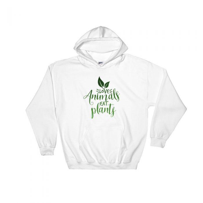 Love Animals Eat Plants Hooded Sweatshirt