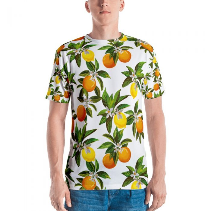 Lemon & Orange Pattern Men's T-shirt