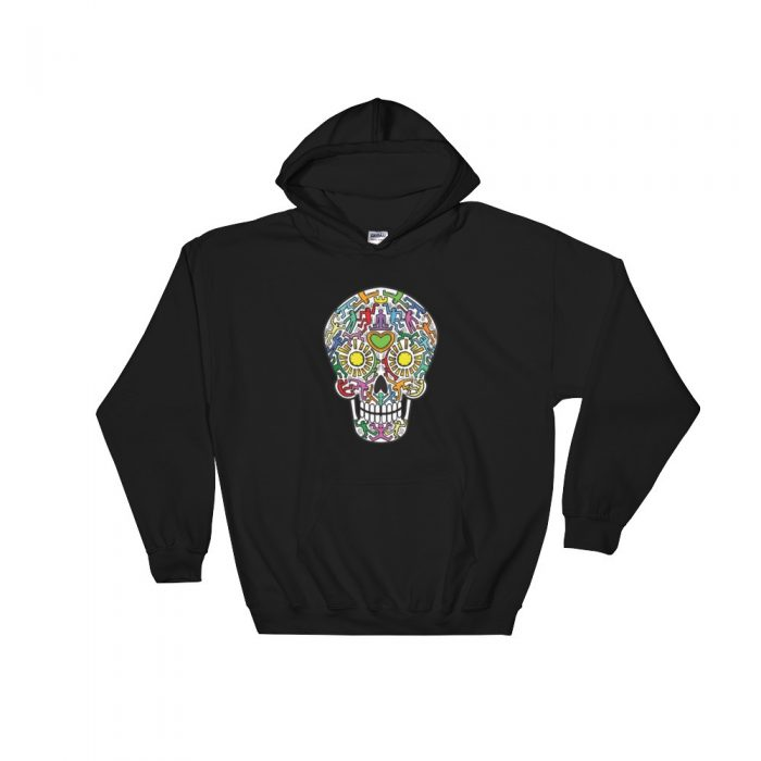 Colorful Skull Hooded Sweatshirt