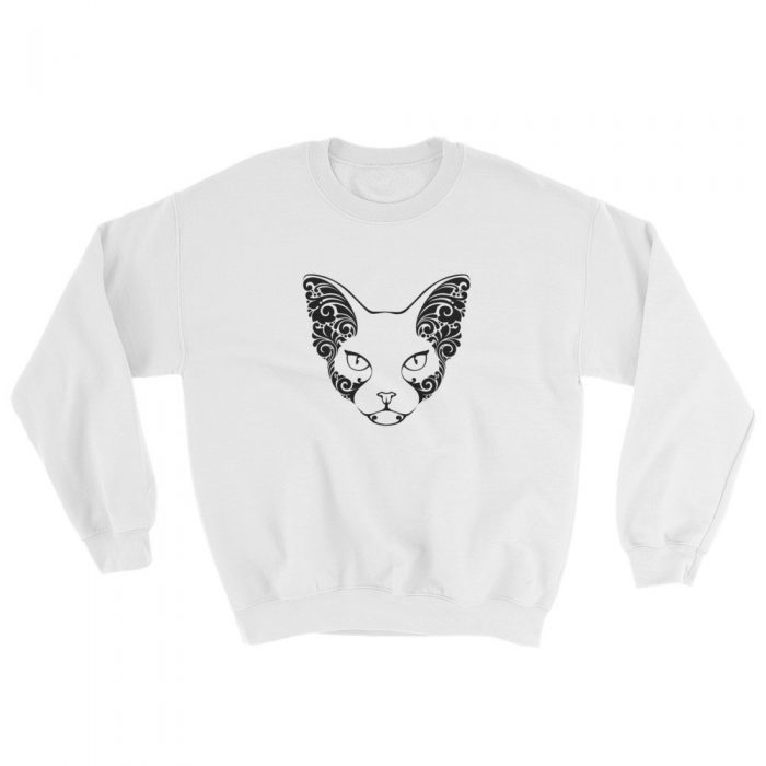 Cat Face Tattoo Sweatshirt