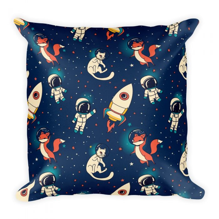 Space Fox & Cat Basic Pillow