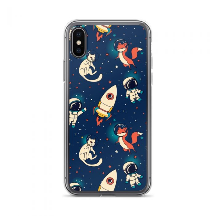 Space Fox & Cat iPhone Case