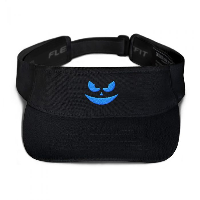 Evil Smile Blue Visor