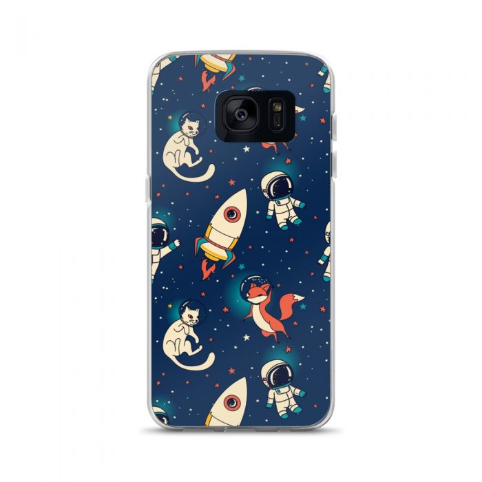 Space Fox & Cat Samsung Case