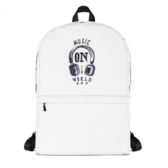 Music On World Off Backpack