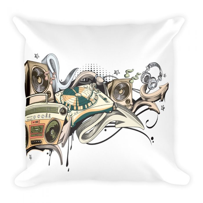 Music Graffiti Basic Pillow