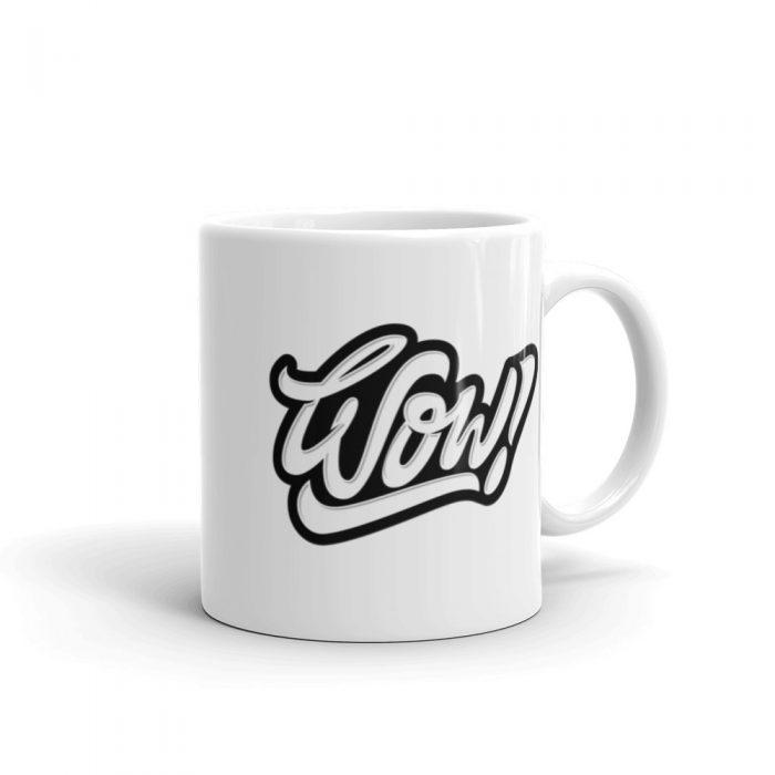 Wow Black Mug
