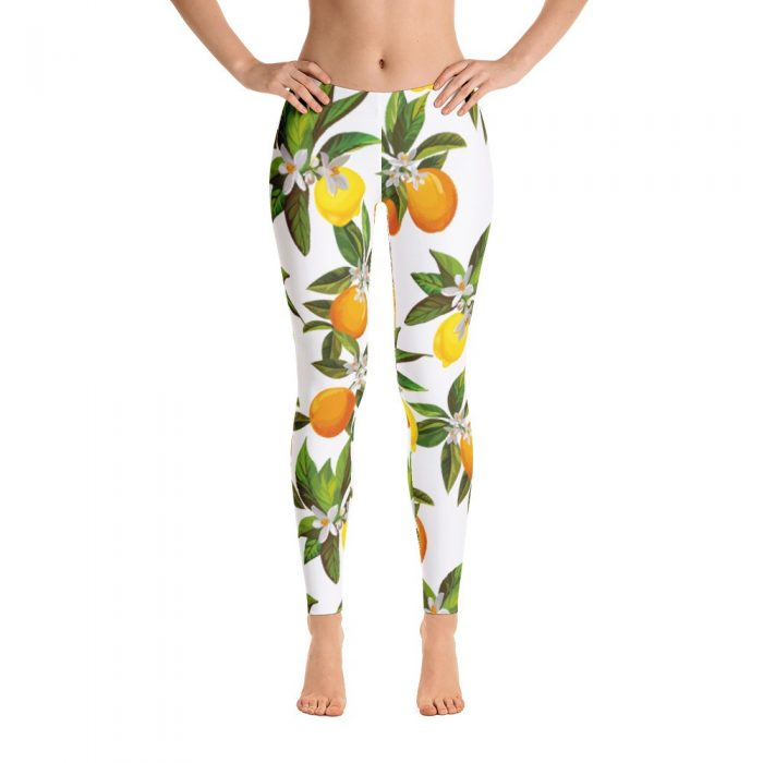 Lemon & Orange Pattern Leggings