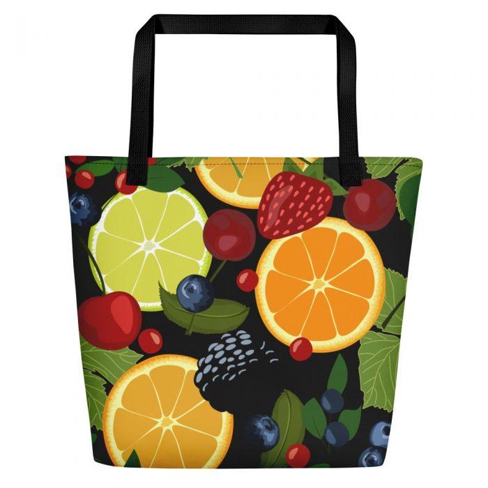 Fruits and Berries Beach Bag