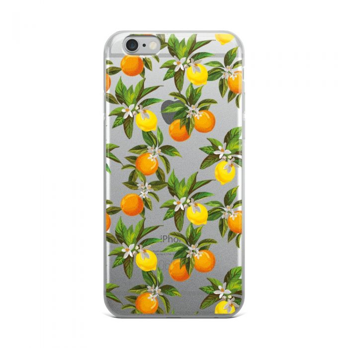 Lemon & Orange Pattern iPhone Case