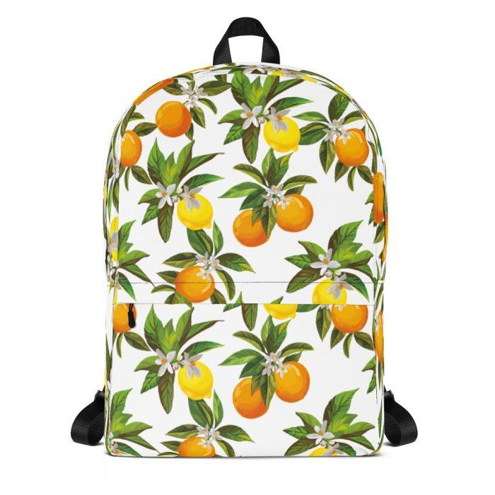 Lemon & Orange Pattern Backpack
