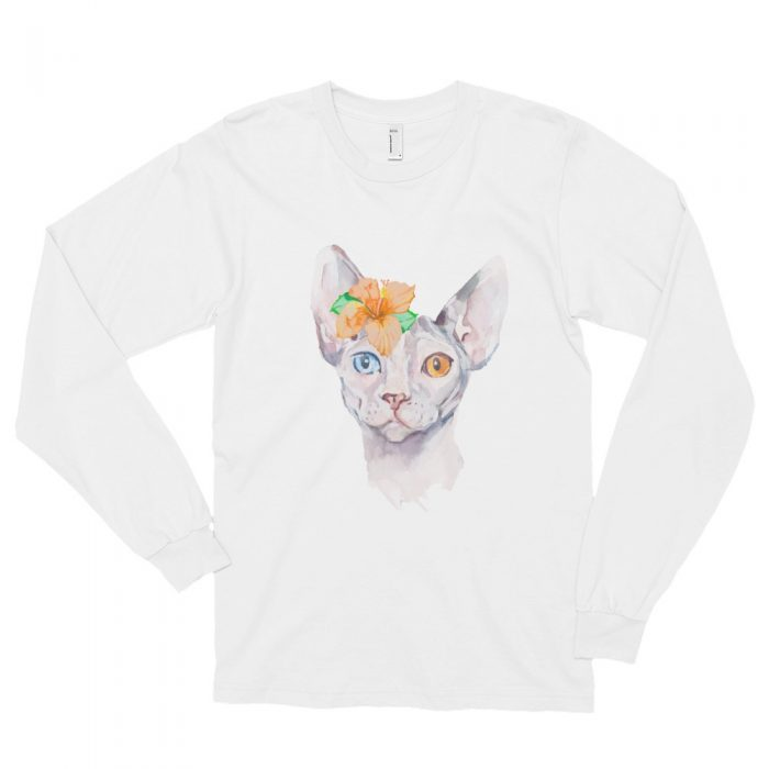 Sphynx Cat Portrait Long sleeve t-shirt (unisex)