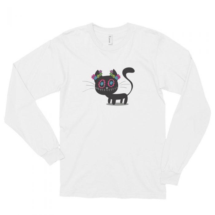 Cartoon Black Cat Long sleeve t-shirt (unisex)