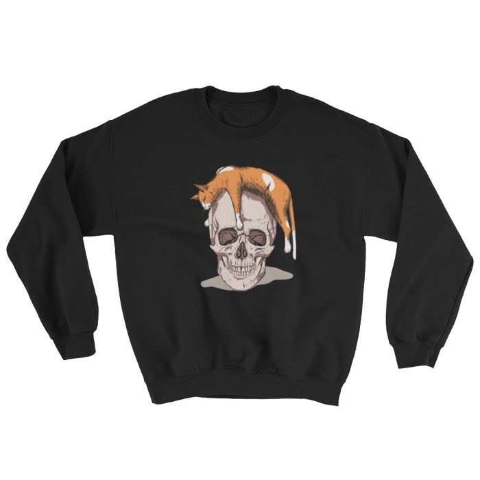 Cat on a Skull Sweatshirt