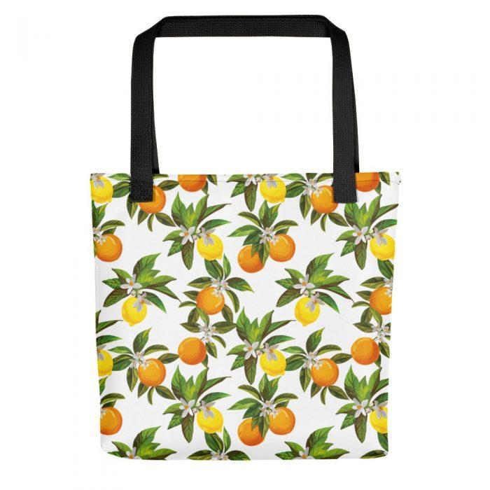 Lemon & Orange Pattern Tote bag