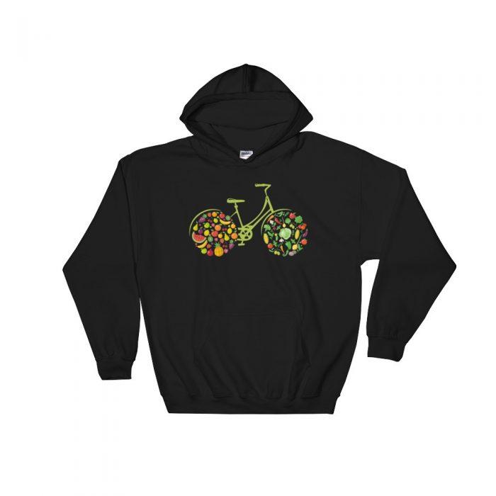 Vegan Bicycle Hooded Sweatshirt