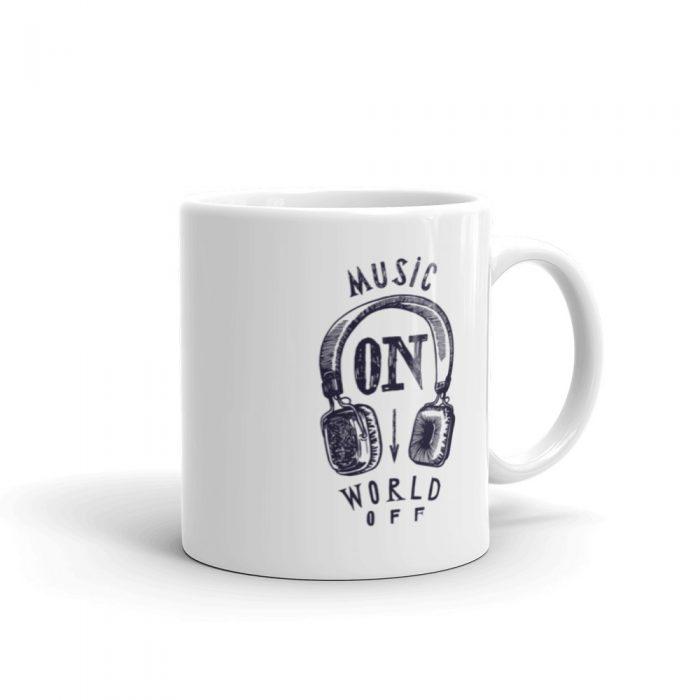Music On World Off Mug