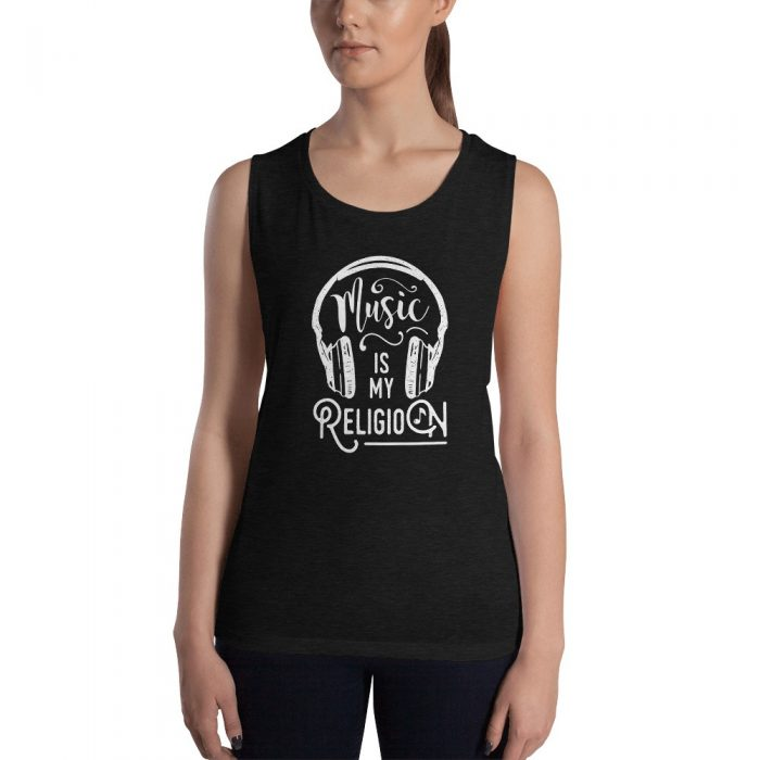 Music is my Religion Ladies' Muscle Tank