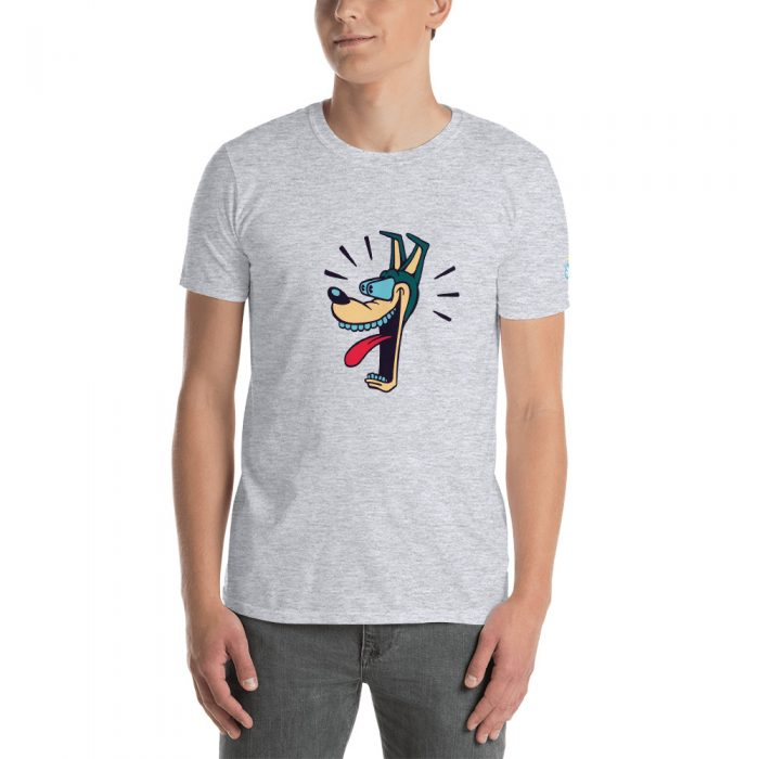 Vintage Cartoon Dog Short-Sleeve Unisex T-Shirt