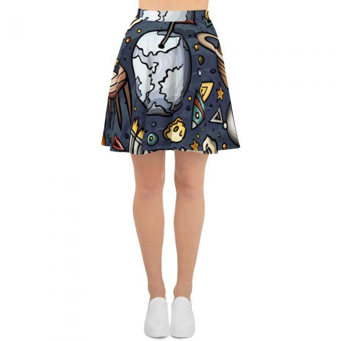 Space Pattern Skater Skirt