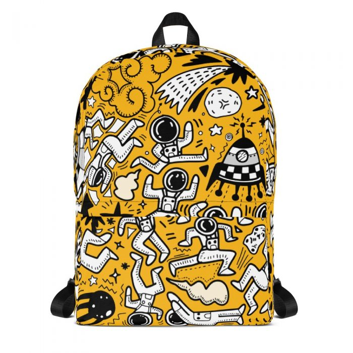 Yellow Space Pattern Backpack