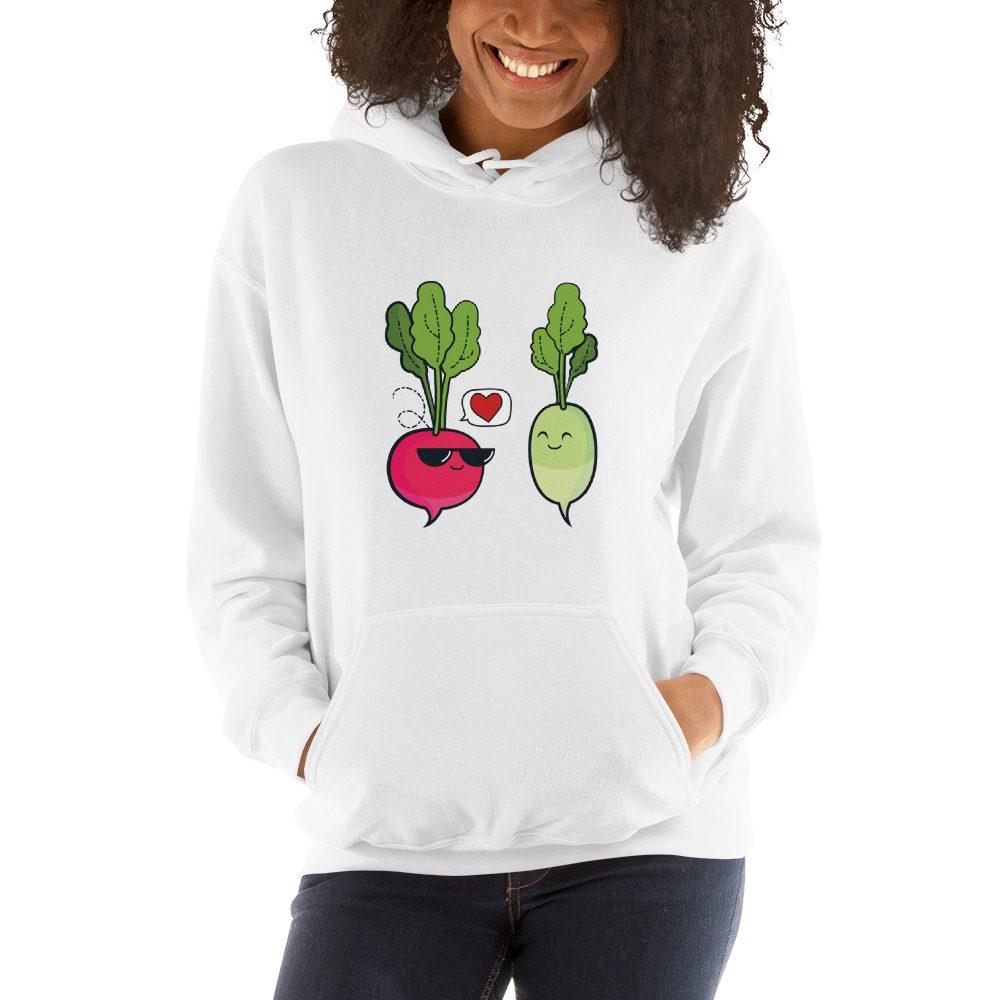 Vegan Love Hooded Sweatshirt