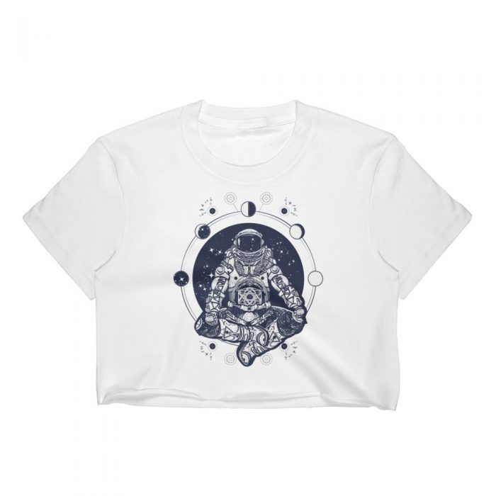Meditating Astronaut Women's Crop Top