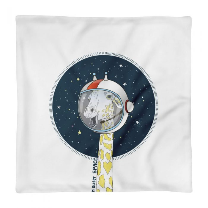 Space Giraffe Pillow Case only