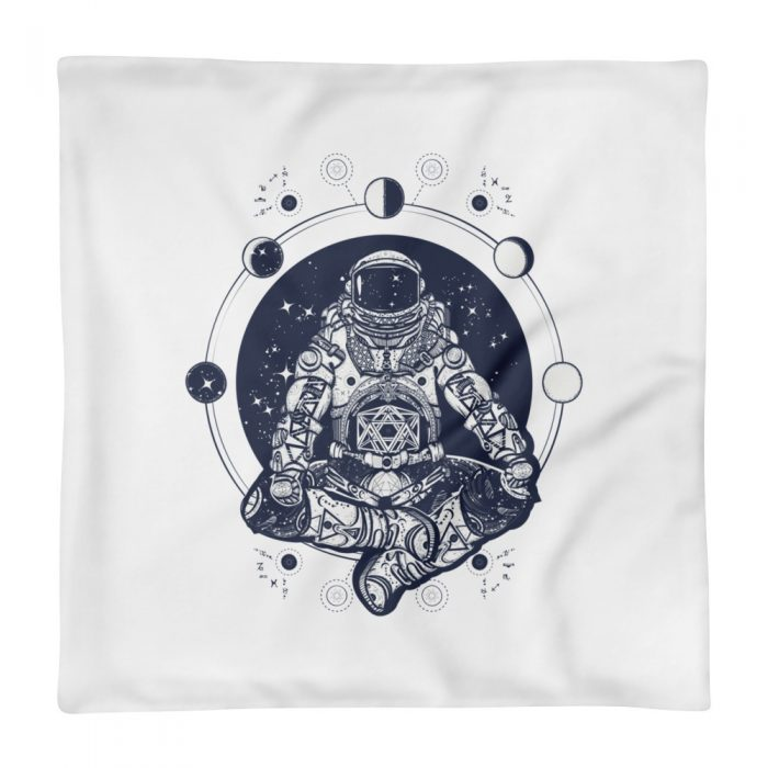 Meditating Astronaut Pillow Case only