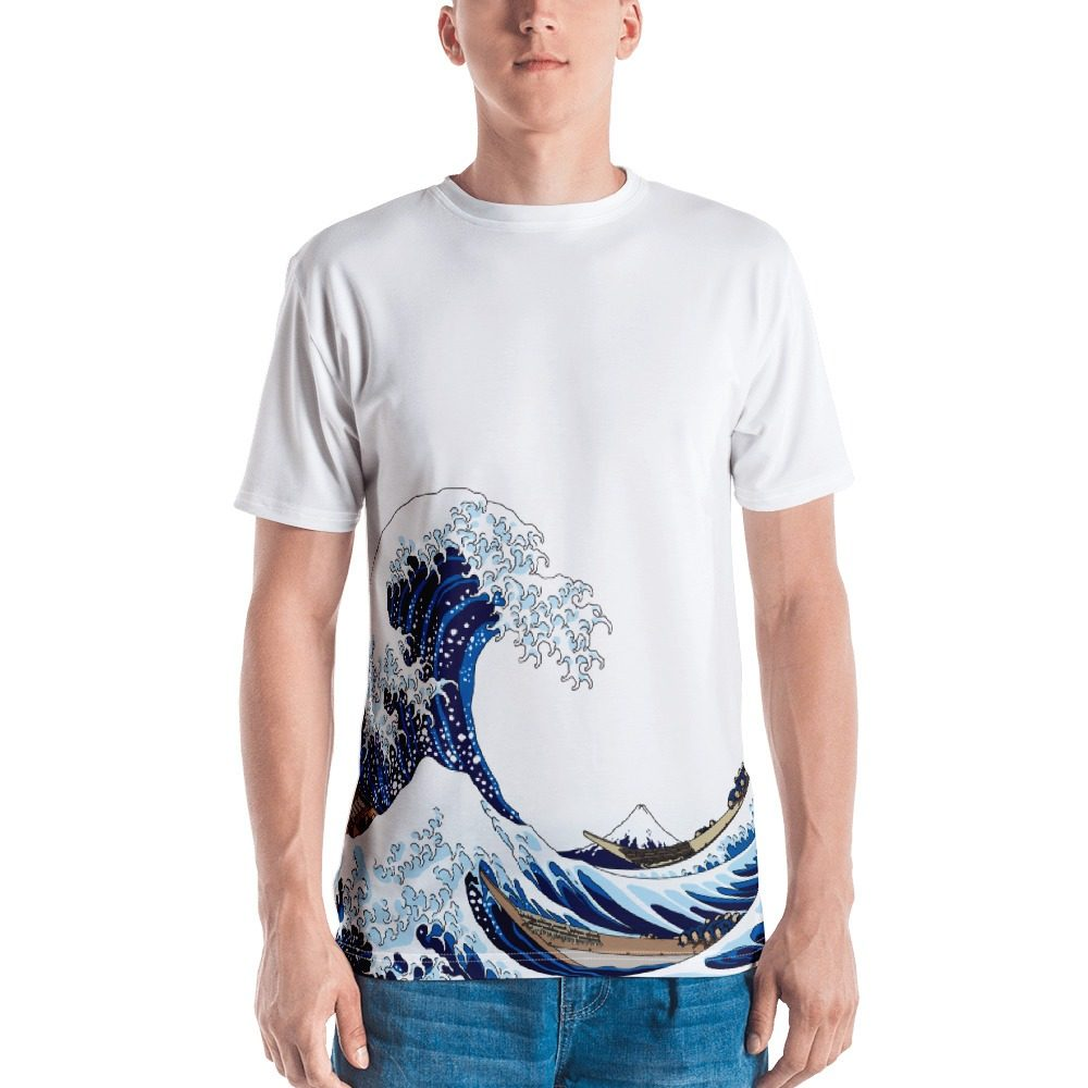 Japanese Wave Painting Men's T-shirt