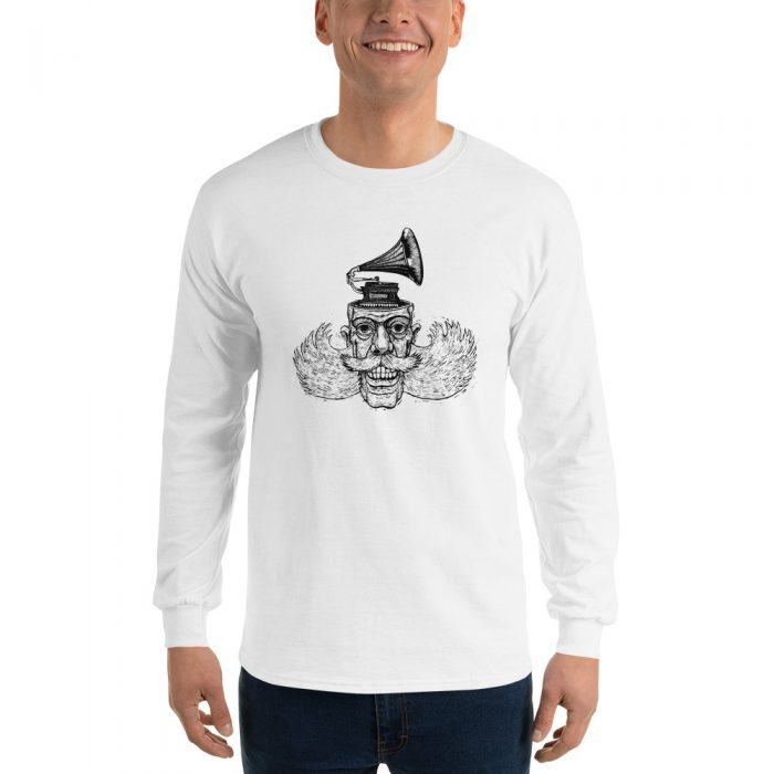 Vintage Gramophone Head Long Sleeve T-Shirt
