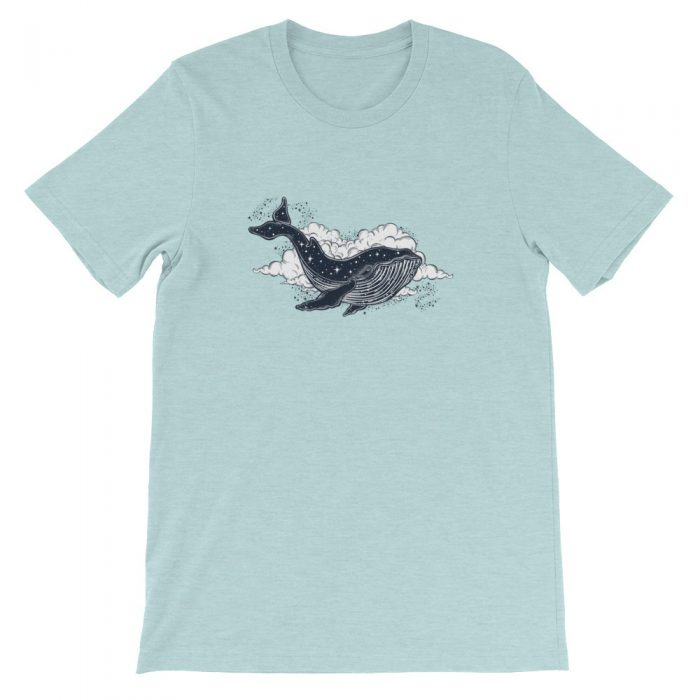 Space Whale Short-Sleeve Unisex T-Shirt