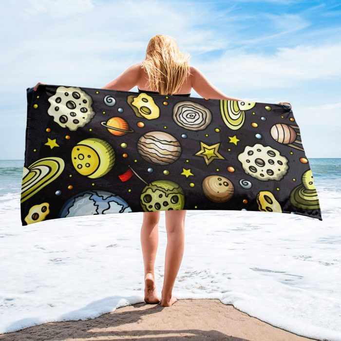 Planets Pattern Towel