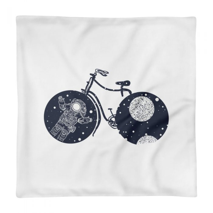 Space Bicycle Pillow Case only