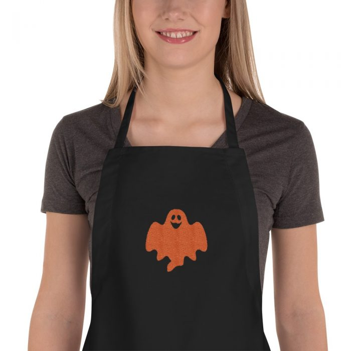 Ghost Embroidered Apron