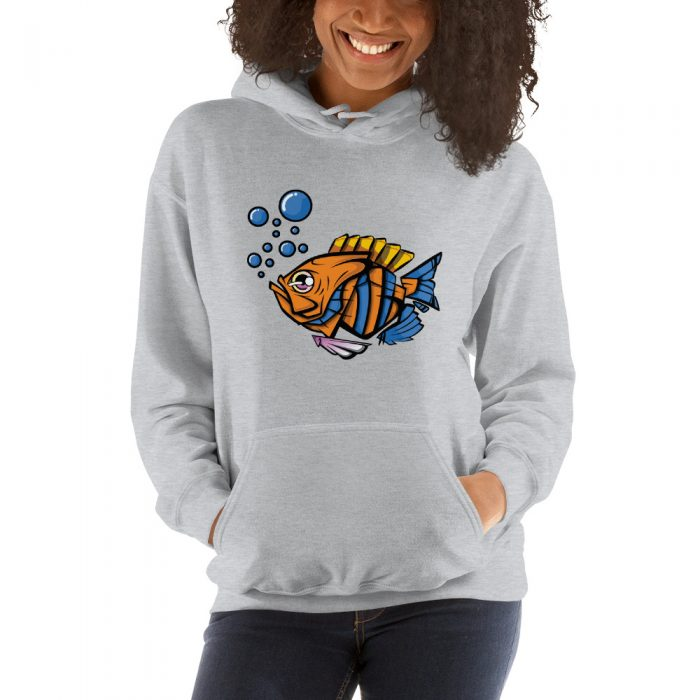 Cartoon Fish Hooded Sweatshirt